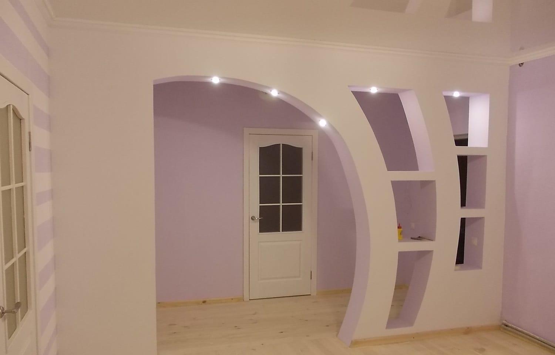 Arco Per Porta archi di cartongesso nella camera da letto sopra il letto