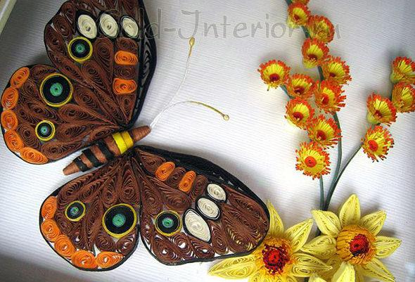 Учимся крутить квиллинг бабочек по мастер-классам   401x590
